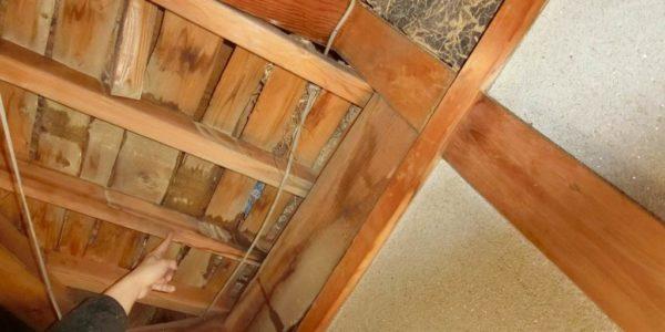 雨漏りの調査・天井解体